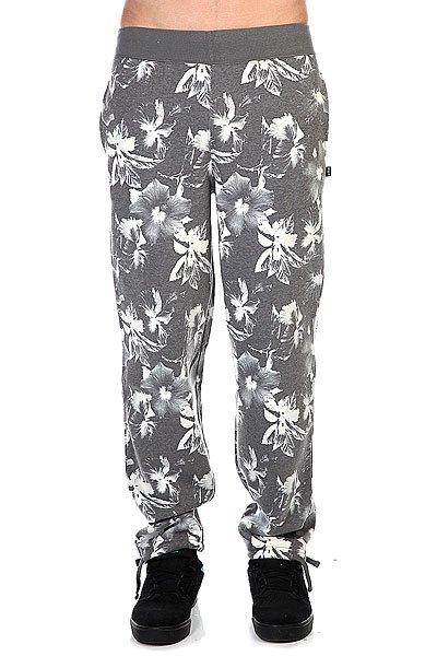 Штаны прямые Huf Floral Sweatpant Black Floral<br><br>Цвет: серый<br>Тип: Штаны спортивные<br>Возраст: Взрослый<br>Пол: Мужской