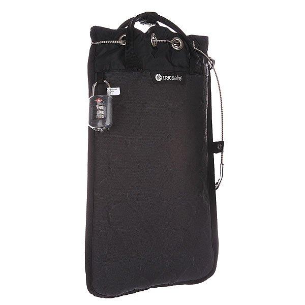 Сумка Pacsafe Travelsafe 5l Gii Pe003ch/10470104Технические характеристики: Текстурная набивная подкладка. Основное отделение на мягкой подбивке подходит для хранения iPod, iPad mini.  Защитная система eXomesh®. Защищенный от перерезания ремень Carrysafe®. Система крепления застежки-молнии Smart Zipper Security™. Блокирующий карман с системой защиты RFIDsafe™. Компактно складывается, когда не используется.<br><br>Цвет: черный<br>Тип: Сумка<br>Возраст: Взрослый<br>Пол: Мужской