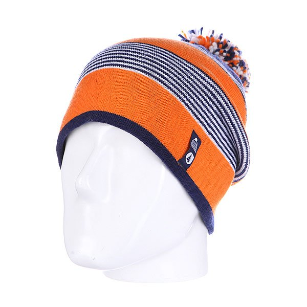 Шапка с помпоном Picture Organic Canal Orange<br><br>Цвет: синий,оранжевый<br>Тип: Шапка<br>Возраст: Взрослый