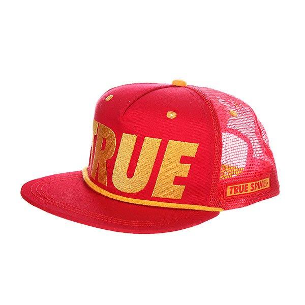 Бейсболка с сеткой TrueSpin True Trucker Red<br><br>Цвет: красный<br>Тип: Бейсболка с сеткой<br>Возраст: Взрослый