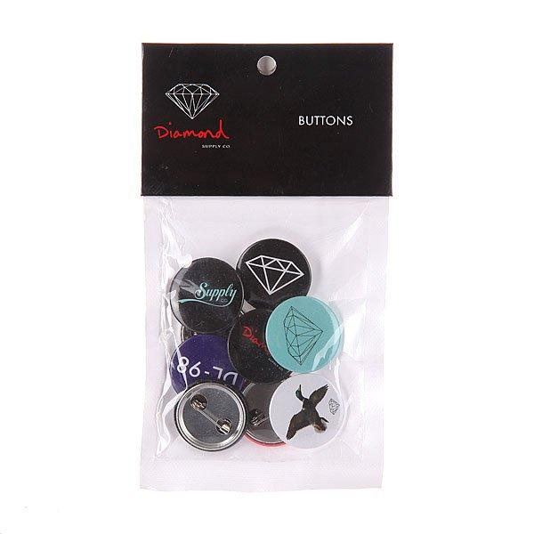Комплект значков Diamond Button 9 Pack MultiКомплект металлических значков в ярком дизайне с классической застежкой.Технические характеристики: Материал - металл.Застежка - булавка.В комплекте 9 штук.<br><br>Цвет: мультиколор<br>Тип: Значок<br>Возраст: Взрослый<br>Пол: Мужской