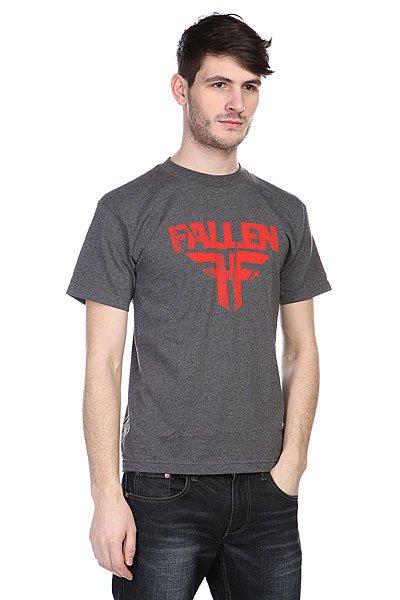 Футболка Fallen Fracture Heat Char<br><br>Цвет: серый<br>Тип: Футболка<br>Возраст: Взрослый<br>Пол: Мужской