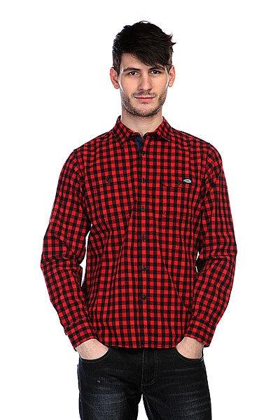 Рубашка в клетку Dickies West Hollywood Red<br><br>Цвет: красный,черный<br>Тип: Рубашка в клетку<br>Возраст: Взрослый<br>Пол: Мужской