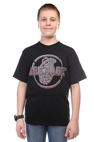 Футболка детская Grenade Metal Mark Black<br><br>Цвет: черный<br>Тип: Футболка<br>Возраст: Детский