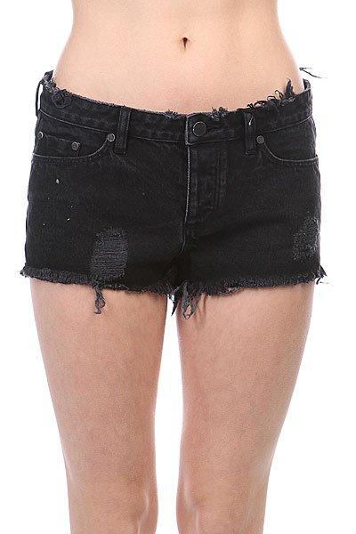 Шорты джинсовые женские Insight Z Ash<br><br>Цвет: черный<br>Тип: Шорты джинсовые<br>Возраст: Взрослый<br>Пол: Женский