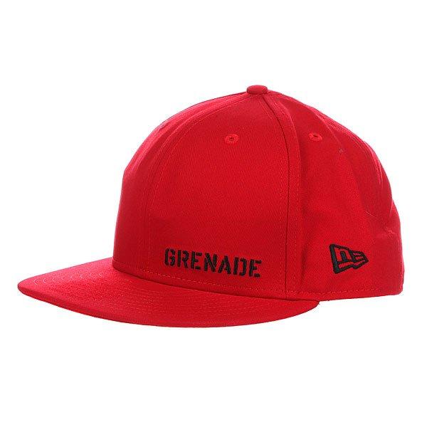 Бейсболка New Era Grenade Rear Cropper NewEra Red/Black<br><br>Цвет: красный<br>Тип: Бейсболка с прямым козырьком<br>Возраст: Взрослый