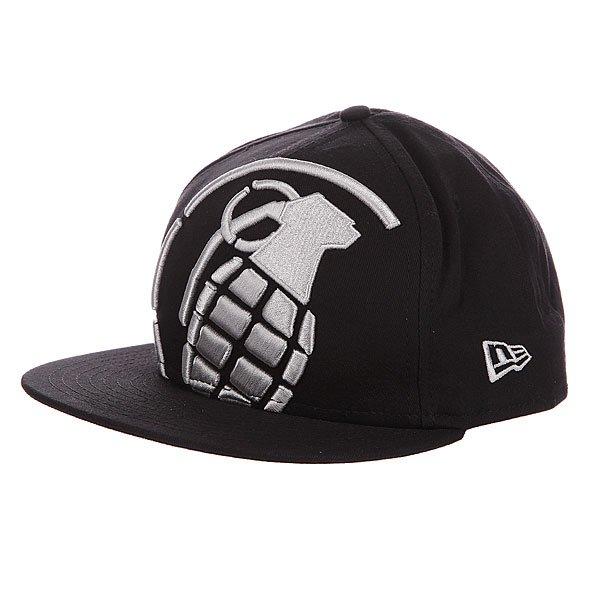 Бейсболка New Era Grenade NewEra Big Crop Black/White<br><br>Цвет: черный<br>Тип: Бейсболка с прямым козырьком<br>Возраст: Взрослый<br>Пол: Мужской
