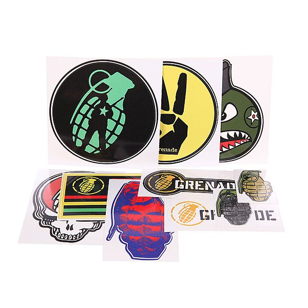 Наклейки Grenade Official Grenade Sticker Pack Multi Colour