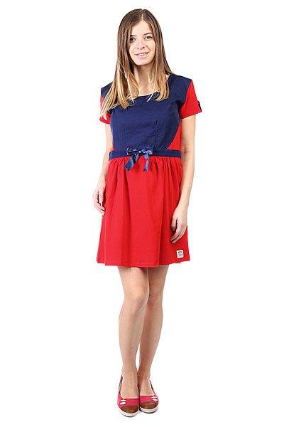 Платье женское Picture Organic Alicia Red<br><br>Цвет: синий,красный<br>Тип: Платье<br>Возраст: Взрослый<br>Пол: Женский