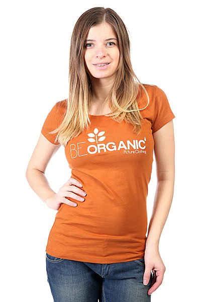 Футболка женская Picture Organic Flower Caram<br><br>Цвет: коричневый<br>Тип: Футболка<br>Возраст: Взрослый<br>Пол: Женский