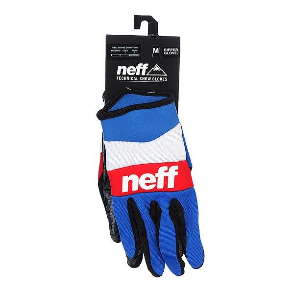 Перчатки сноубордические Neff Ripper Blue/White/Red
