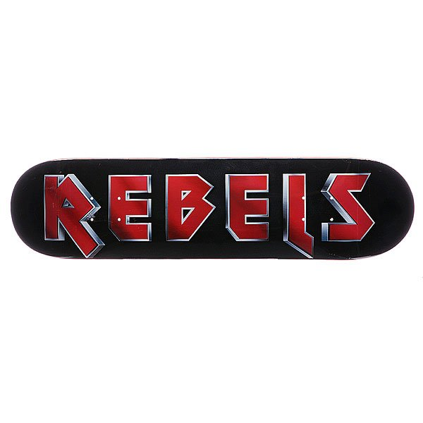 Дека для скейтборда для скейтборда Rebels Logo Maiden Black/Red 31.75 x 8.1 (20.6 см)