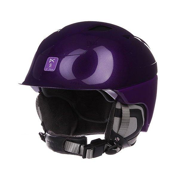 Шлем для сноуборда женский Anon Galena PurpleЖенский шлем с технологией Boa® Fit - идеальное облегание головы обеспечивает максимальный комфорт, комфорт ведет к уверенности, уверенность - к успеху. Характеристики: Флисовая мягкая подкладка согревает голову и дарит комфорт. Активная система вентиляции предупреждает запотевания маски и обеспечивает оптимальный воздухообмен. Система регулировки ремешка BOA. Совместимость с аудиосистемами SkullCandy™ ASFX Audio. Гибридная конструкция.<br><br>Цвет: фиолетовый<br>Тип: Шлем для сноуборда<br>Возраст: Взрослый<br>Пол: Женский