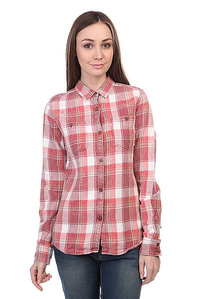 Рубашка в клетку женская Burton Wb Grace Ls Wvn Chili Pepr Lring Pld