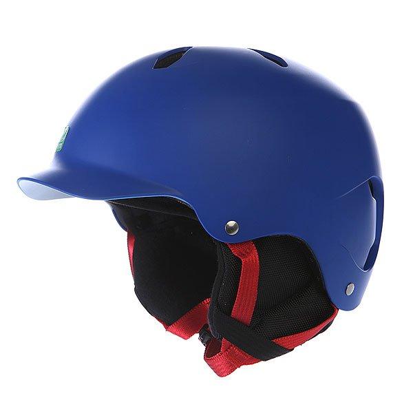 Шлем для сноуборда детский Bern Bandito Eps Liner Matte Cobalt Blue/BlackБерн с гордостью представляет оригинальную форму козырька для молодых гонщиков. Характеристики:   Технология Zip Mold &amp;trade; &amp;ndash; запатентованный наполнитель который образует единую спаянную между собой внутреннюю и внешнюю защитную часть шлема, позволяющий добиться минимального веса шлема.  Вязаный съемный внутренний лайнер с мягкой флисовой отделкой.  Съемные защитные наушники.  Раздвижные вентиляционные отверстия.  Технология каркаса Sink Fit &amp;trade; &amp;ndash; шлем тоньше, чем обычно, очень хорошо сидит и практически не ощущается на голове.  The Clip &amp;ndash; запатентованная система крепления внутренника к шлему. Клипсы не ломаются на морозе (стандарт для всех моделей).  Улучшенный регулируемый ремешок Twin Clip &amp;trade; - крепление для ремня маски с возможностью установки в двух положениях (стандарт для всех моделей).  Система вентиляции Channeled Air-Flow &amp;trade; - воздушные каналы расположены таким образом, чтобы воздух попадал в шлем спереди и выходил из него сзади, полностью продувая пространство внутри.  Совместимость с любыми типами очков Eyewear Channel&amp;trade;.<br><br>Цвет: синий<br>Тип: Шлем для сноуборда<br>Возраст: Детский