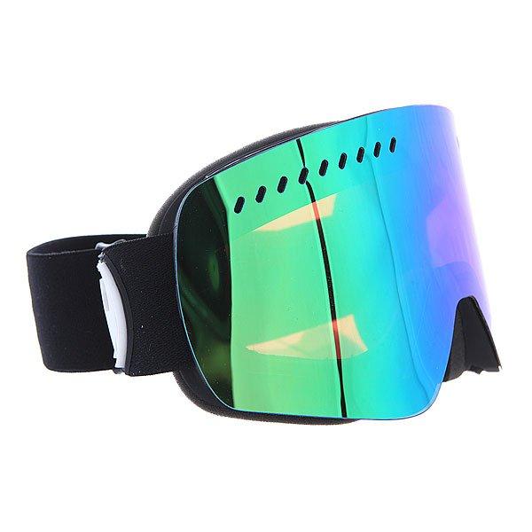 Маска для сноуборда Dragon Nfxs Coal/Green Ionized OneТехнические характеристики:  Цилиндрическая  форма линз.  Infinity Lens Technology  обеспечивает максимальный обзор. Технология антибликового защитного покрытия линз (на 100% защищает от ультрафиолетового излучения (блокирует вредное UVA, UVB, UVC излучение, а также ультрафиолетовое излучение до 400 NM).  Технология антизапотевания линзы Super Anti-Fog.  Оптически корректные линзы. Гибкая оправа из полиуретана.  Внутреннее покрытие из защитной тройной формирующей пены для лучшего прилегания маски к лицу и потоотведения.  В месте соприкосновения с лицом дополнительный слой нежного поглощающего влагу флиса Polartec. Линзы с устойчивым к царапинам покрытием. Регулируемый ремешок с накладкой против скольжения.  Совместимость со всеми видами шлемов.  Оптимизирована для средней и большой формы лица.  Светопередача –13-15 % (Лучше всего подходит для яркого солнца, добавляет четкости и защищает от яркого света).<br><br>Цвет: черный<br>Тип: Маска для сноуборда<br>Возраст: Взрослый<br>Пол: Мужской