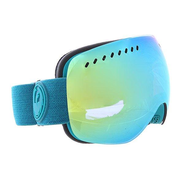 Маска для сноуборда Dragon Apxs Aquaheathr/Smokgld + YellBlue OneТехнические характеристики:  Цилиндрическая  форма линз.  Infinity Lens Technology  обеспечивает максимальный обзор. Технология антибликового защитного покрытия линз (на 100% защищает от ультрафиолетового излучения (блокирует вредное UVA, UVB, UVC излучение, а также ультрафиолетовое излучение до 400 NM).  Технология антизапотевания линзы Super Anti-Fog.  Оптически корректные линзы. Гибкая оправа из полиуретана.  Внутреннее покрытие из защитной двойной формирующей пены для лучшего прилегания маски к лицу и потоотведения.  В месте соприкосновения с лицом дополнительный слой нежного поглощающего влагу флиса Polartec. Линзы с устойчивым к царапинам покрытием. Регулируемый ремешок с накладкой против скольжения.  Совместимость со всеми видами шлемов.  Оптимизирована для средней и большой формы лица.  Светопередача –25.9-28.6% (подходит для яркого солнца, добавляет четкости и убирает блики).Дополнительная сменная линза в комплекте (Светопередача – 48-57%, подходит для меняющихся условий освещения от слабого освещения до облачной погоды, добавляет четкости и защищает от яркого света.)<br><br>Цвет: синий<br>Тип: Маска для сноуборда<br>Возраст: Взрослый<br>Пол: Мужской