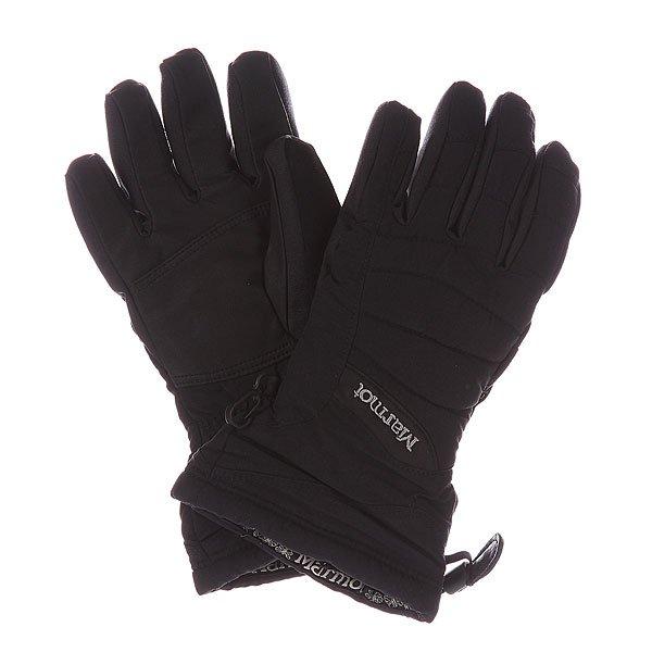 Перчатки сноубордические женские Marmot Wms Moraine Glove BlackХарактеристики: Вставка из Marmot MemBrain® - водонепроницаемого дышащего и ветрозащитного материала.  Для широкого диапазона использования. Утеплитель Thermal R. Влагоотводящая подкладка DriClime® Bi-Component – высокая воздухопроницаемость и эффективное влагоотведение. Внутренний карман для грелки.  «Соколиная хватка» - анатомический крой пальцев. Вставка из мягкого материалана большом пальце для протирки маски. Страховочная петля – перчатка держится у запястья, даже когда Вы ее снимаете.<br><br>Цвет: черный<br>Тип: Перчатки сноубордические<br>Возраст: Взрослый<br>Пол: Женский