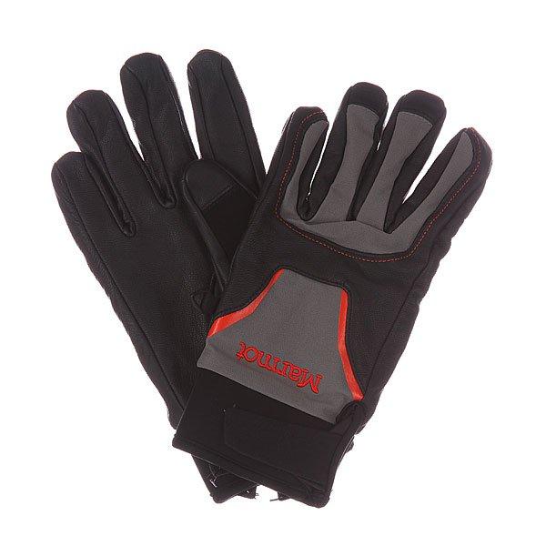 Перчатки сноубордические Marmot Spring Glove Black/GargoyleХарактеристики: Вставка из Marmot MemBrain® - водонепроницаемого дышащего и ветрозащитного материала.  Для широкого диапазона использования. Утеплитель Thermal R. Влагоотводящая подкладка DriClime® Bi-Component – высокая воздухопроницаемость и эффективное влагоотведение.  «Соколиная хватка» - анатомический крой пальцев. Вставка из мягкого материалана большом пальце для протирки маски. Укороченный крой.<br><br>Цвет: черный,серый,красный<br>Тип: Перчатки сноубордические<br>Возраст: Взрослый<br>Пол: Мужской