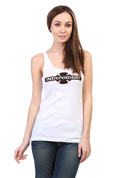 Майка женская Independent O.g.b.c. Racer Back Tank White майка independent fountain tank white heather grey