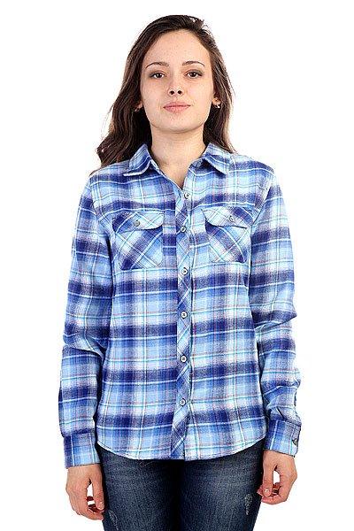 Рубашка в клетку женская Marmot Wms Bridget Flannel Ls Vibrant Royal<br><br>Цвет: синий<br>Тип: Рубашка в клетку<br>Возраст: Взрослый<br>Пол: Женский