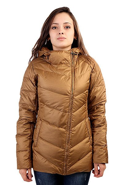 Куртка женская Marmot Wms Carina Jacket CopperТехнические характеристики: Верх из полиэстера с влагонепроницаемой пропиткой DWR.  Внутренняя подкладка из тафты + микрофлис в верхней части торса. Воротник-стойка.  Застежка-ассиметричная молния по всей длине. Утеплитель – пух с технологией Down Defender + рукава – Thermal R.  Съемный капюшон.  Внутренний потайной карман. Прорезные карманы для рук.  Фасон: стандартный (regular fit).<br><br>Цвет: коричневый<br>Тип: Куртка<br>Возраст: Взрослый<br>Пол: Женский