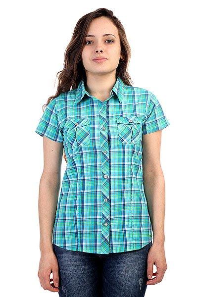 Рубашка в клетку женская Marmot Wms Codie Ss Atomic Blue<br><br>Цвет: зеленый<br>Тип: Рубашка в клетку<br>Возраст: Взрослый<br>Пол: Женский