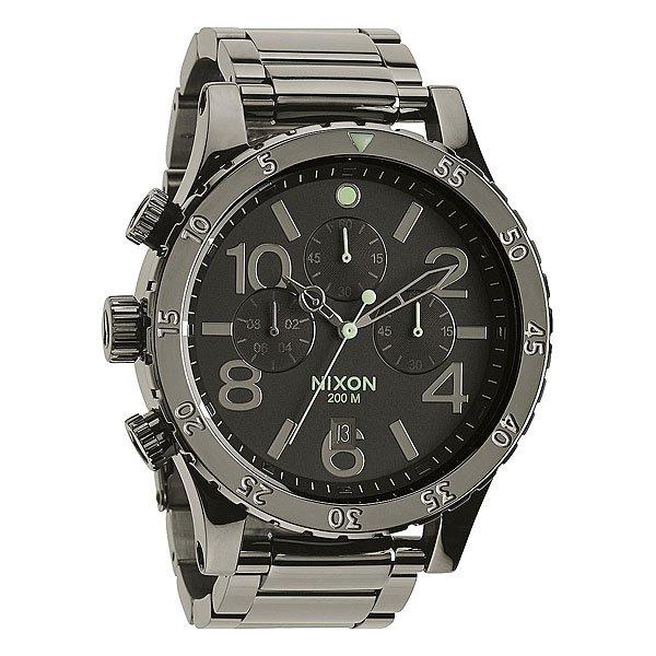 Часы Nixon 48-20 Chrono Polished Gunmetal/Lum nixon часы nixon a404 000 коллекция 38 20 chrono