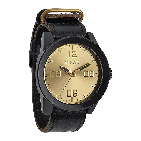 Часы Nixon Corporal Black/Gold часы nixon corporal ss gray rose gold