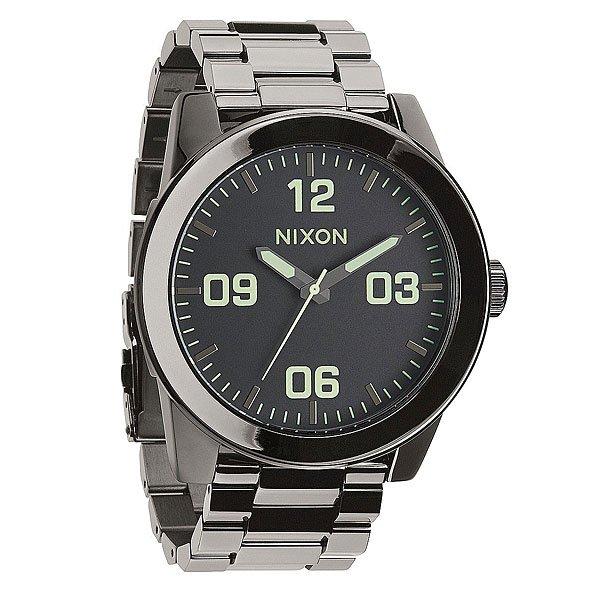 Часы Nixon Corporal Ss Polished Gunmetal/Lum nixon часы nixon a243 019 коллекция corporal