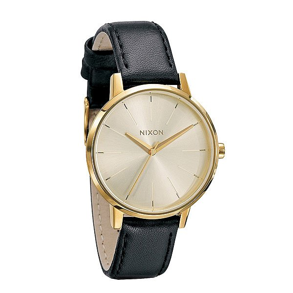 Часы женские Nixon Kensington Leather Gold