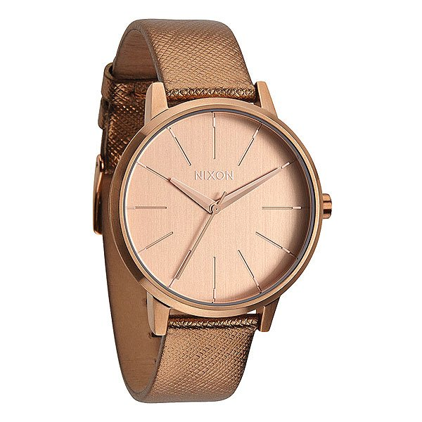 Часы женские Nixon Kensington Leather Rose Gold Shimmer