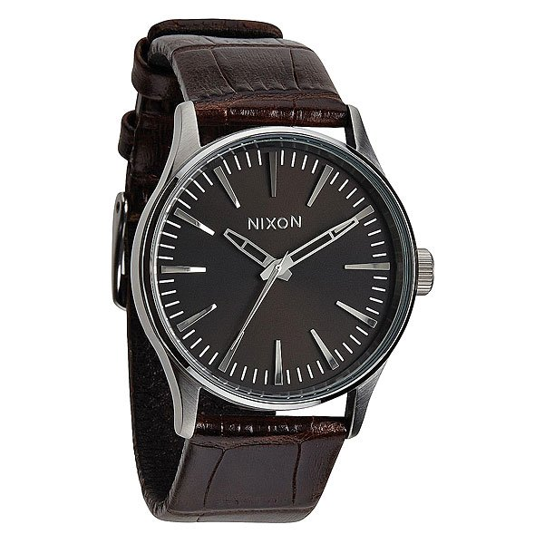 Часы Nixon Sentry 38 Leather Brown Gator