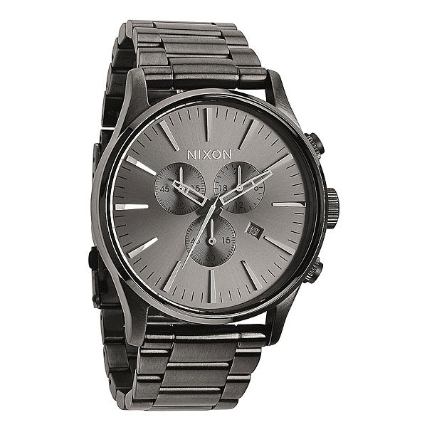 Часы Nixon Sentry Chrono All Gunmetal кварцевые часы nixon sentry chrono black multi