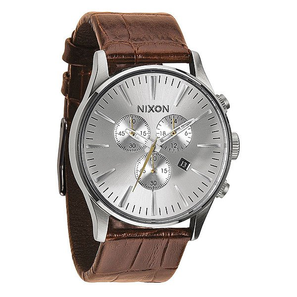 Часы Nixon Sentry Chrono Leather Saddle Gator кварцевые часы nixon sentry chrono black multi