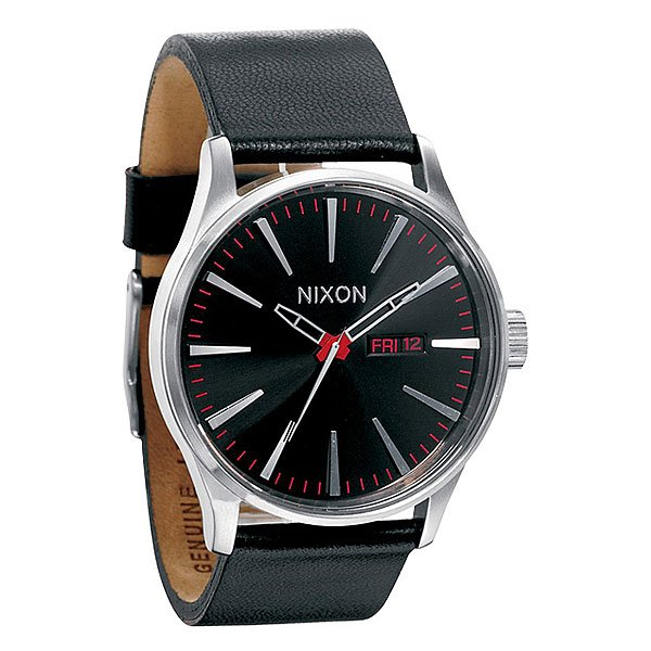 Часы Nixon Sentry Leather Black часы nixon re run leather all black