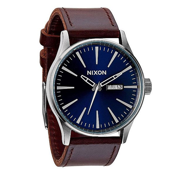 Часы Nixon Sentry Leather Blue/Brown часы nixon corporal ss all black