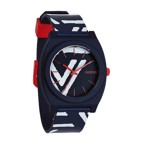 Часы Nixon Time Teller P Navy/Coral nixon time teller p whiteblue