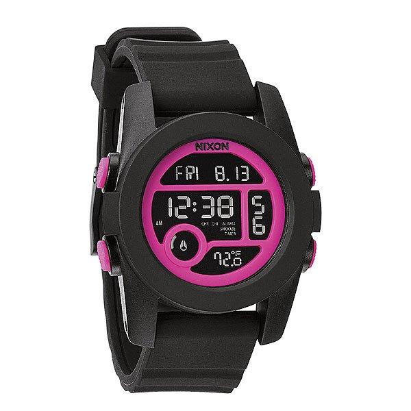 Часы Nixon Unit 40 Black/Magenta часы nixon corporal ss matte black industrial green