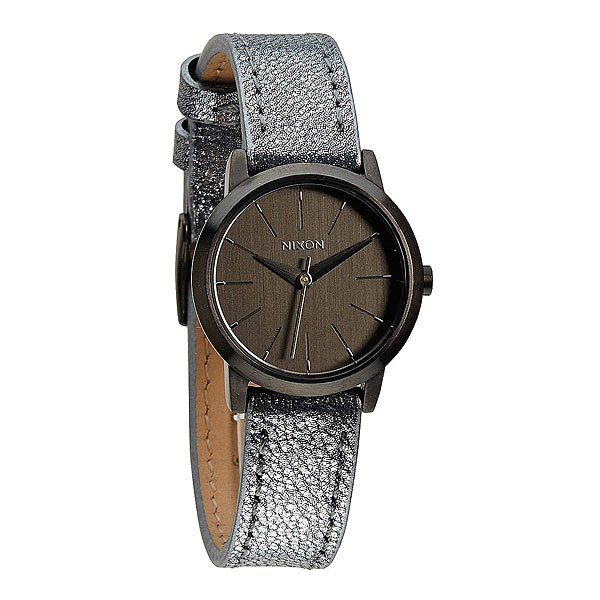 Часы женские Nixon Kenzi Leather Gunmetal/Blue Shimmer