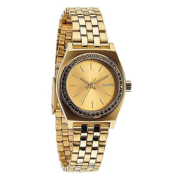 Часы женские Nixon Small Time Teller All Gold Crystal