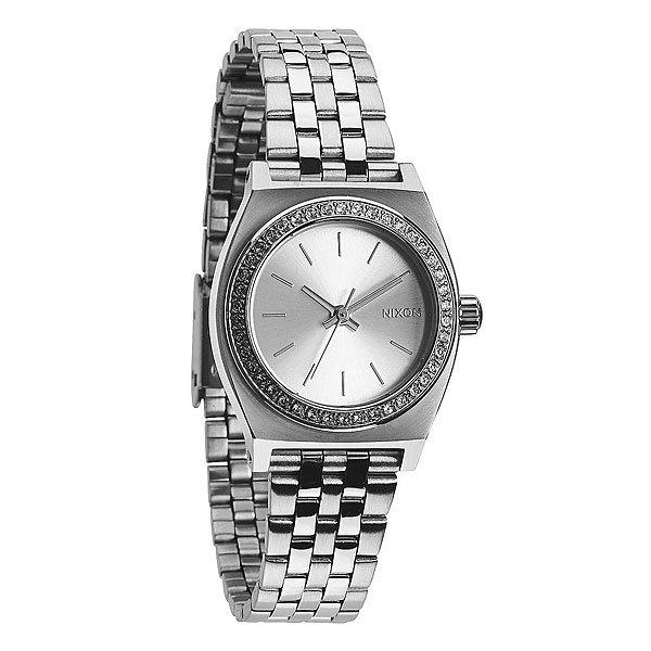 Часы женские Nixon Small Time Teller All Silver Crystal