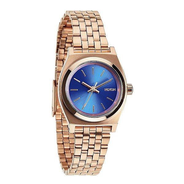 Часы женские Nixon Small Time Teller Rose Gold/Cobalt часы nixon corporal ss gray rose gold
