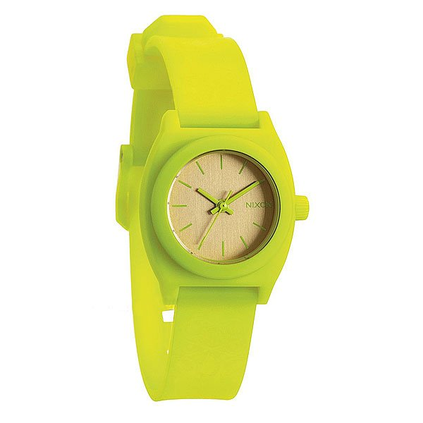 Часы женские Nixon Small Time Teller P Neon Yellow/Beetlepoint