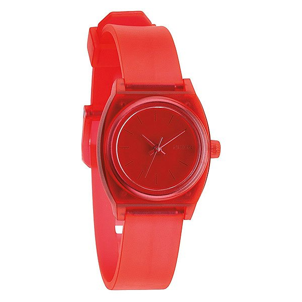 цены Часы женские Nixon Small Time Teller P Translucent Coral