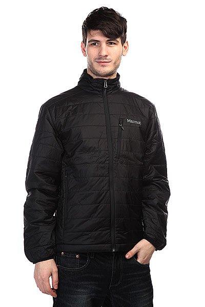 Куртка Marmot Calen Jacket BlackТехнические характеристики: Верх из 100% нейлона.  Внутренняя подкладка из тафты DriClime. Воротник-стойка.  Застежка-молния по всей длине. Утеплитель – Primaloft.  Внутренний потайной карман. Прорезные карманы для рук.  Потайная регулировка подола. Фасон: стандартный (regular fit).<br><br>Цвет: черный<br>Тип: Куртка<br>Возраст: Взрослый<br>Пол: Мужской
