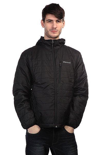 Куртка Marmot Calen Hoody BlackТехнические характеристики: Верх из 100% нейлона.  Внутренняя подкладка из тафты DriClime. Фиксированный капюшон.  Застежка-молния по всей длине. Утеплитель – Primaloft.  Внутренний потайной карман. Прорезные карманы для рук.  Потайная регулировка подола. Фасон: стандартный (regular fit).<br><br>Цвет: черный<br>Тип: Куртка<br>Возраст: Взрослый<br>Пол: Мужской