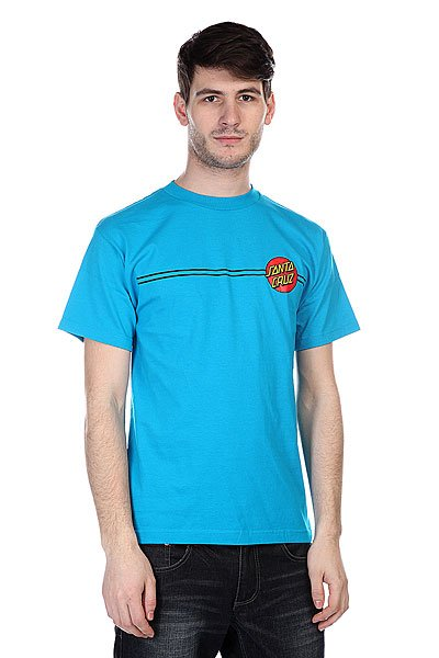 Футболка Santa Cruz Classic Dot Turquoise штаны широкие santa cruz classic strip sweat pant navy