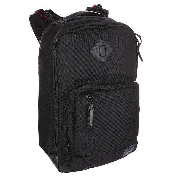 Рюкзак городской Nixon Visitor Backpack BlackСтильный вместительный городской рюкзак на каждый день. Характеристики:  Большое основное отделение.  Мягкое отделение для ноутбука. Мягкие регулируемые лямки. Защитная уплотненная задняя панель.  Несколько внутренних карманов для мелочей и аксессуаров.  Лицевой карман-органайзер на молнии.<br><br>Цвет: черный<br>Тип: Рюкзак городской<br>Возраст: Взрослый<br>Пол: Мужской