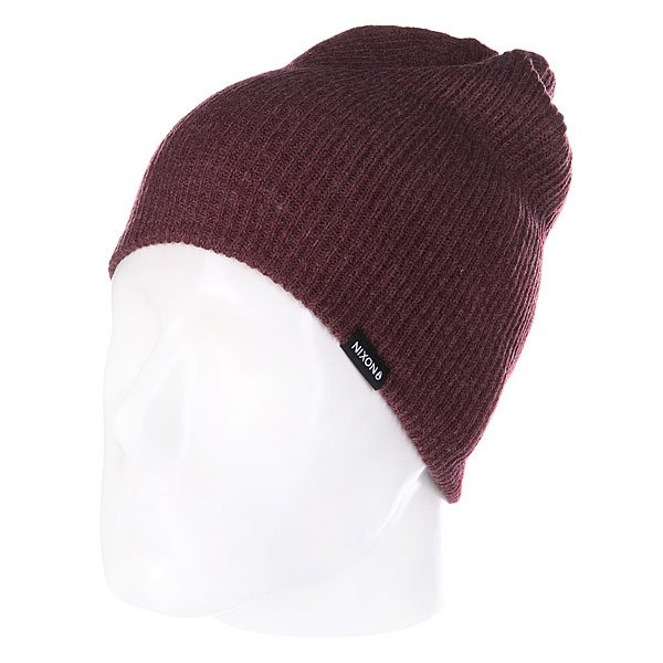 Шапка носок Nixon Compass Beanie Burgundy Heather